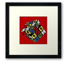 Kubrick's kube Framed Print