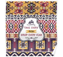 Decorative pattern in tribal style Poster