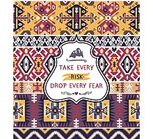 Decorative pattern in tribal style Photographic Print