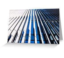 Modern Architecture in blue and white Greeting Card