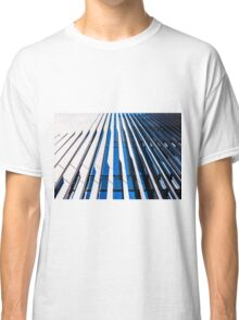 Modern Architecture in blue and white Classic T-Shirt