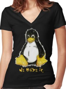 We Made It Women's Fitted V-Neck T-Shirt