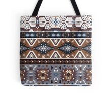 Decorative noir pattern in tribal style Tote Bag
