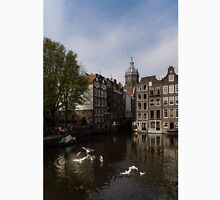 Amsterdam - Noisy Seagull Commotion on the Canal  T-Shirt