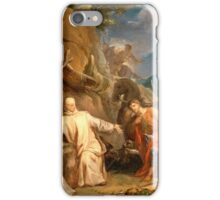 Saint Martin Sharing his Coat with a Beggar Louis Galloche (France, Paris, 1670-1761) iPhone Case/Skin