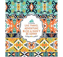 Decorative bright pattern in tribal style Photographic Print