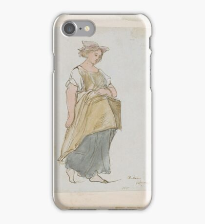 James Smetham Study of a Young Woman iPhone Case/Skin