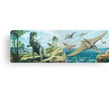 Iguanodon & Pteranodon Frieze Canvas Print