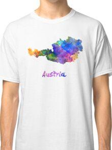 Austria in watercolor Classic T-Shirt