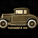 A digital painting of my vector drawing of The Ford Model A of the 1930s old style image by Dennis Melling