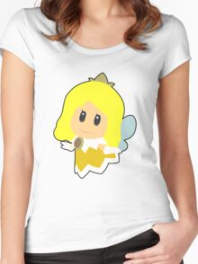 Yellow Sprixie Princess Women's Fitted Scoop T-Shirt