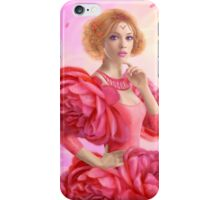 beautiful Fantasy fairy woman with rose  flowers iPhone Case/Skin