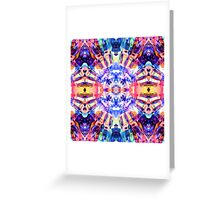 Colorful Crystal Fractal Greeting Card