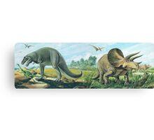 Tyrannosaurus Rex & Triceratops Frieze Canvas Print