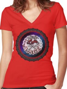 Instant Gothic Lolita Women's Fitted V-Neck T-Shirt
