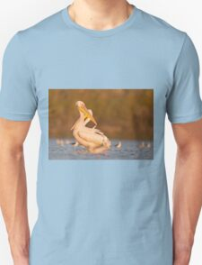 Pelicans in the water Photographed in Ein Afek Nature Reserve, Israel in November T-Shirt