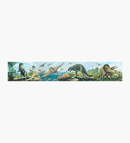 Iguanodon, Pteranodon, T Rex & Triceratops Frieze Photographic Print