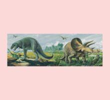 Tyrannosaurus Rex & Triceratops Frieze Kids Tee