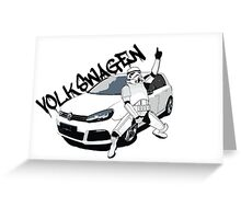 Volkswagen VW Golf R Greeting Card