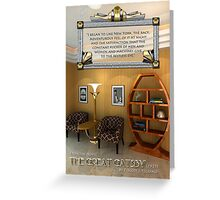 Art Deco Room Vintage Furniture Great Gatsby Quote Greeting Card