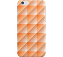 Orange Squares Triangles Abstract Geometric Pattern iPhone Case/Skin
