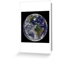 Full Earth with Hurricane Irene visible on the United States East Coast. Greeting Card