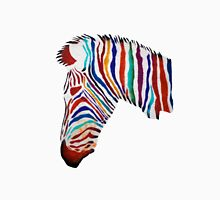 Colorful zebra rainbow smiling profile Unisex T-Shirt