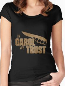 The Walking Dead Carol - In Carol We Trust Women's Fitted Scoop T-Shirt
