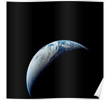 Crescent Earth taken from the Apollo 4 mission. Poster