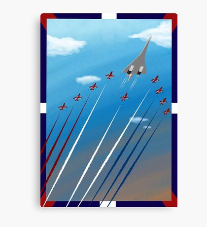 Flight of Concorde Canvas Print