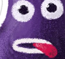 Funny Eggplant Sticker