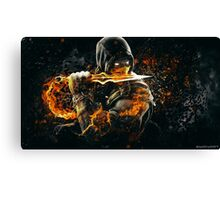 Mortal Kombat - Scorpion on Fire! Canvas Print