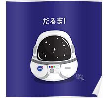 Daruma Astronaut Poster