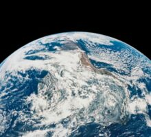 View of Earth taken from the Aollo 8 spacecraft. Sticker