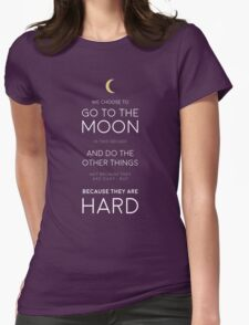 We Choose to Go to The Moon - JFK Womens Fitted T-Shirt