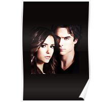 Damon and Elena. Delena T-Shirt Poster