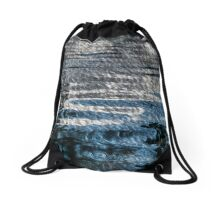 Blue painting Drawstring Bag