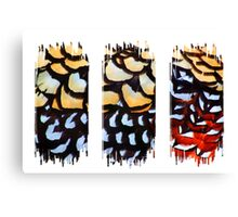Reeves Pheasant (Triptych) Canvas Print
