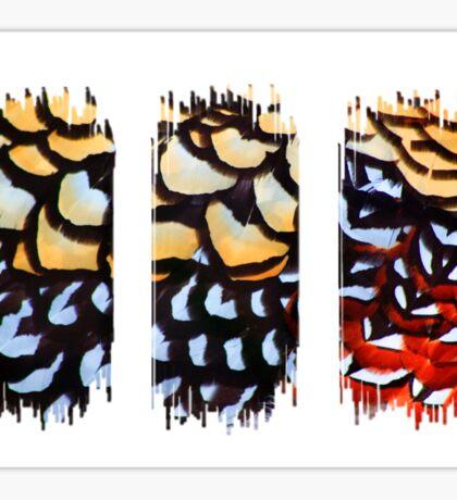 Reeves Pheasant (Triptych) Sticker