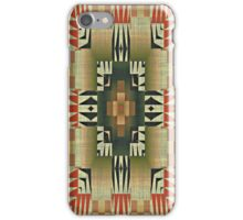 Burnt Orange Olive Green Khaki Brown Mosaic Pattern iPhone Case/Skin