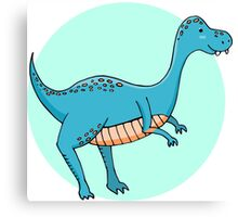 Blue dinosaur Canvas Print