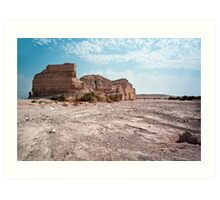 Israel, Sodom, near the southern part of the Dead Sea, Eroded rock Art Print