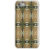 Olive Green Caramel Coffee Brown Tribal Mosaic Pattern iPhone Case/Skin
