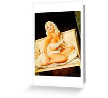 Jayne Mansfield by Frank Falcon Greeting Card