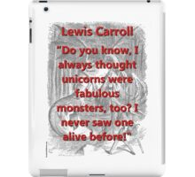 Do You Know I Always Thought - L Carroll iPad Case/Skin