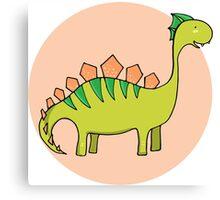 Green dinosaur Canvas Print