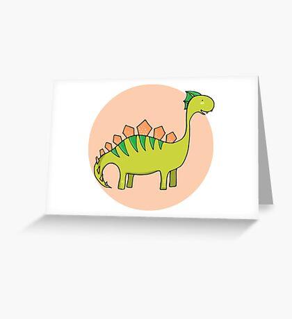 Green dinosaur Greeting Card