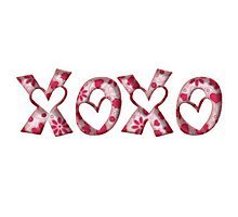XOXO Photographic Print