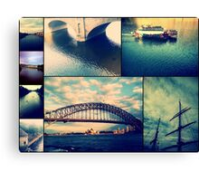 Water Collage Canvas Print
