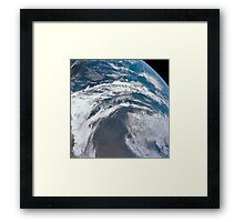 View of Earth as photographed from the Apollo 12 spacecraft. Framed Print